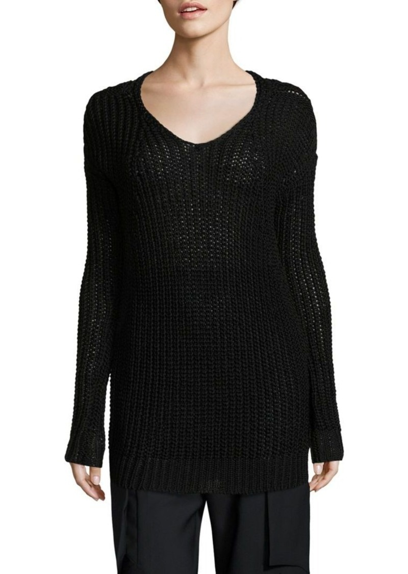 rick owens rick owens cotton knit sweater sweaters shop it to me. Black Bedroom Furniture Sets. Home Design Ideas