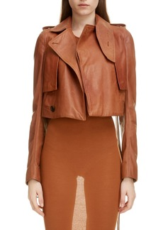Rick Owens Crop Leather Jacket