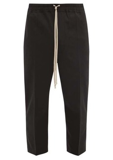 Rick Owens Cropped drawstring crepe trousers