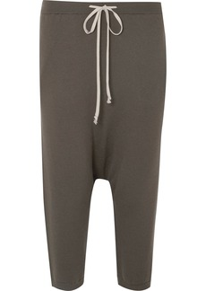 Rick Owens Cropped wool track pants