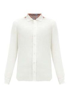 Rick Owens Distorted leopard-print silk-crepe shirt