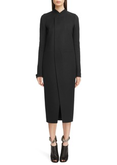 Rick Owens Double Face Wool Blend Coat