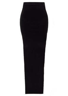 Rick Owens Double slit-side maxi skirt