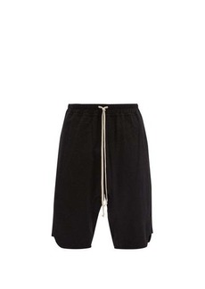 Rick Owens Drawcord-waist cotton-jersey basketball shorts