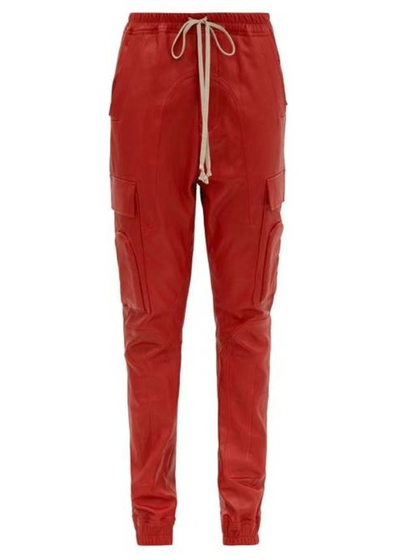 Rick Owens Drawstring bonded leather trousers