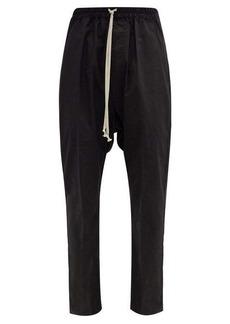 Rick Owens Drawstring-waist organic cotton-jersey trousers