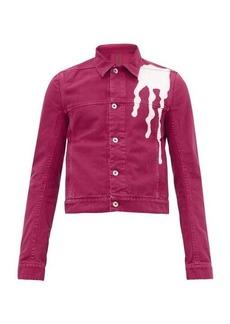 Rick Owens DRKSHDW Abstract drop-print cotton-denim jacket