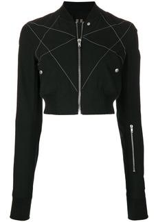 Rick Owens DRKSHDW cropped bomber jacket - Black