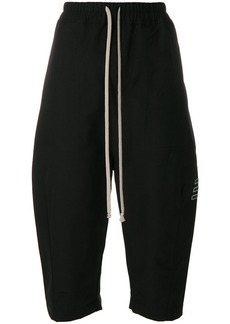 Rick Owens DRKSHDW cropped drawstring shorts - Black