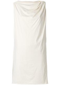 Rick Owens DRKSHDW draped detail shift dress - Nude & Neutrals