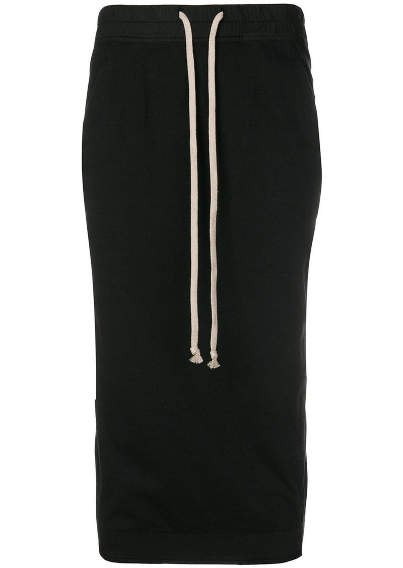 Rick Owens drawstring-waist midi skirt