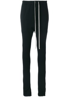 Rick Owens DRKSHDW drop-crotch track pants - Black