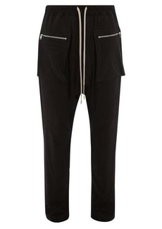 Rick Owens DRKSHDW Dropped-seat cotton-twill trousers