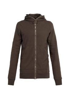 Rick Owens DRKSHDW Gimp zip-through cotton hooded sweatshirt