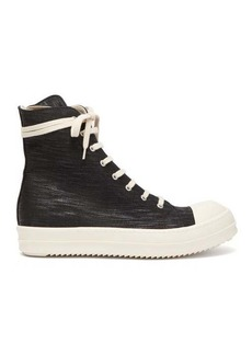 Rick Owens DRKSHDW High-top coated-canvas trainers