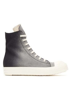 Rick Owens DRKSHDW High-top ombré canvas trainers