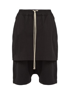 Rick Owens DRKSHDW Kilt Pods contrast-panel cotton-blend shorts