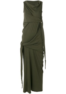 Rick Owens DRKSHDW knotted detail maxi dress - Green