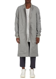 Rick Owens DRKSHDW Men's Cotton-Blend Insulated Long Bomber Jacket