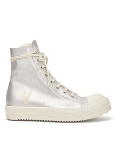 Rick Owens DRKSHDW Metallic canvas high-top trainers
