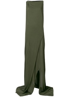 Rick Owens DRKSHDW twist neck draped dress - Green