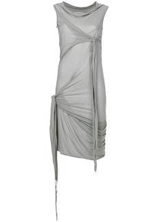 Rick Owens DRKSHDW wrap detail dress - Grey