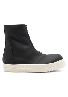 Rick Owens DRKSHDW Zip-front high-top rubber trainers