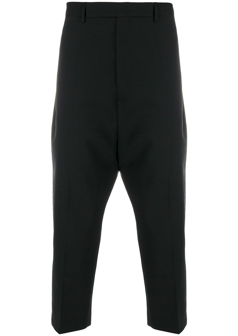 Rick Owens drop-crotch tailored trousers