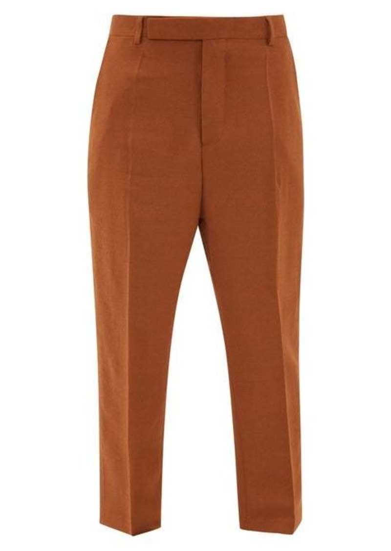 Rick Owens Easy Astaires high-rise crepe trousers