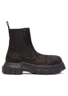 Rick Owens Exaggerated-sole leather chelsea boots