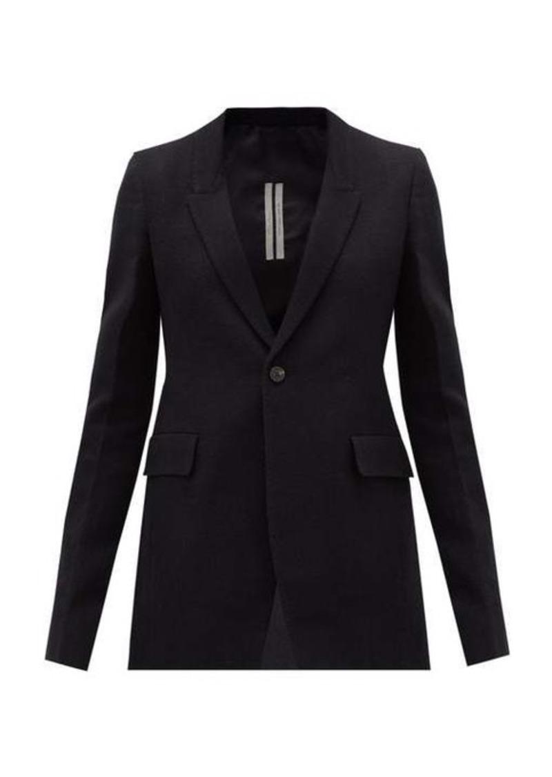 Rick Owens Extreme Soft single-breasted cotton-blend blazer