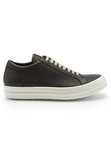 Rick Owens Grooved-sole leather trainers