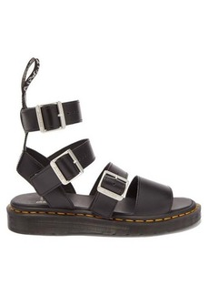 Rick Owens X Dr. Martens Gryphon buckled leather sandals