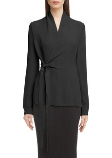 Rick Owens Hammered Wrap Blouse