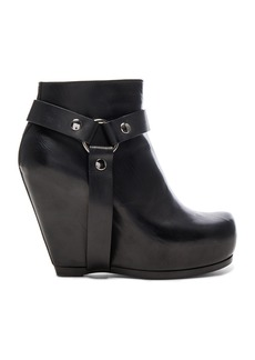 Rick Owens Harness Zip Leather Wedge Boots