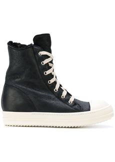 Rick Owens shearling-lined hi-top sneakers
