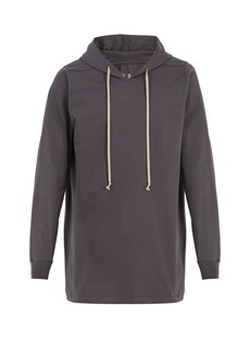 Rick Owens Hooded cotton-jersey sweatshirt