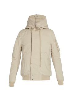 Rick Owens DRKSHDW Hooded shell bomber jacket