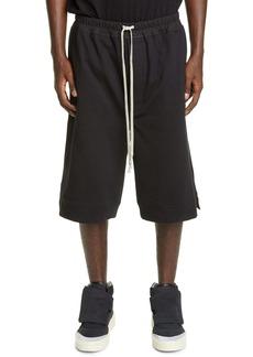 Rick Owens Karloff Drawstring Cotton Shorts