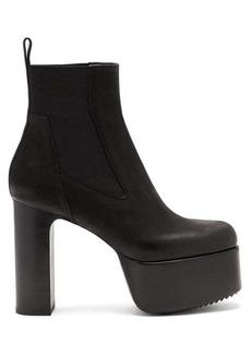 Rick Owens Kiss grained-leather platform Chelsea boots
