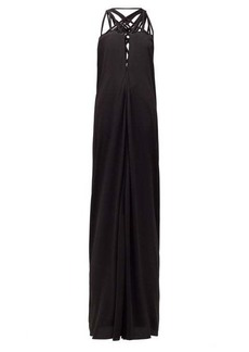 Rick Owens Lace-up crepe maxi dress