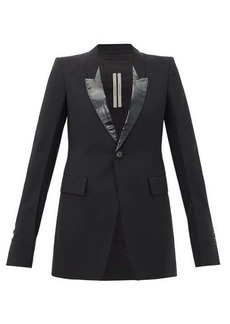Rick Owens Lamé-lapel single-breasted jacket