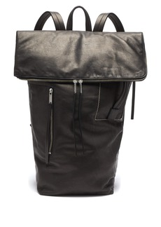 Rick Owens Leather duffle backpack
