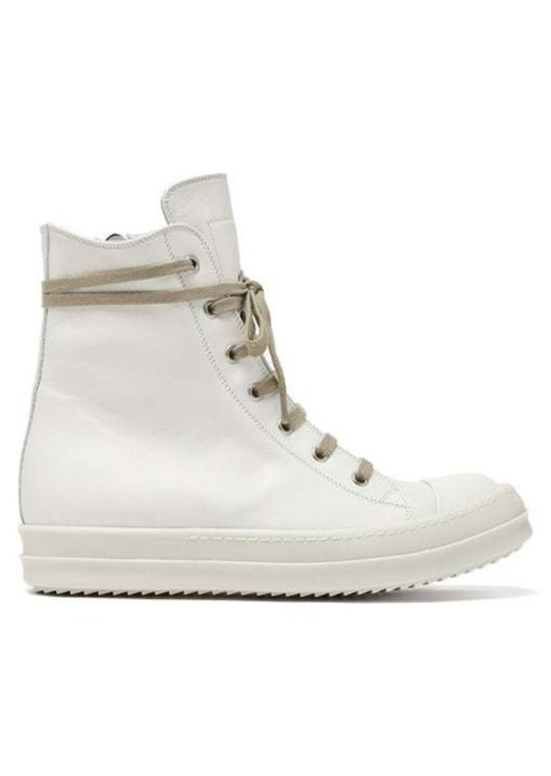 Rick Owens Leather high-top trainers