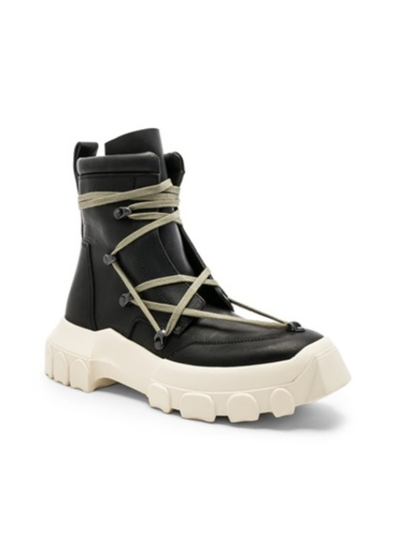 c67620458ce77 SALE! Rick Owens Rick Owens Leather Lace Up Hiking Boots