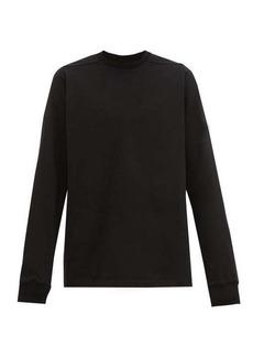 Rick Owens Level longline cotton-jersey sweatshirt