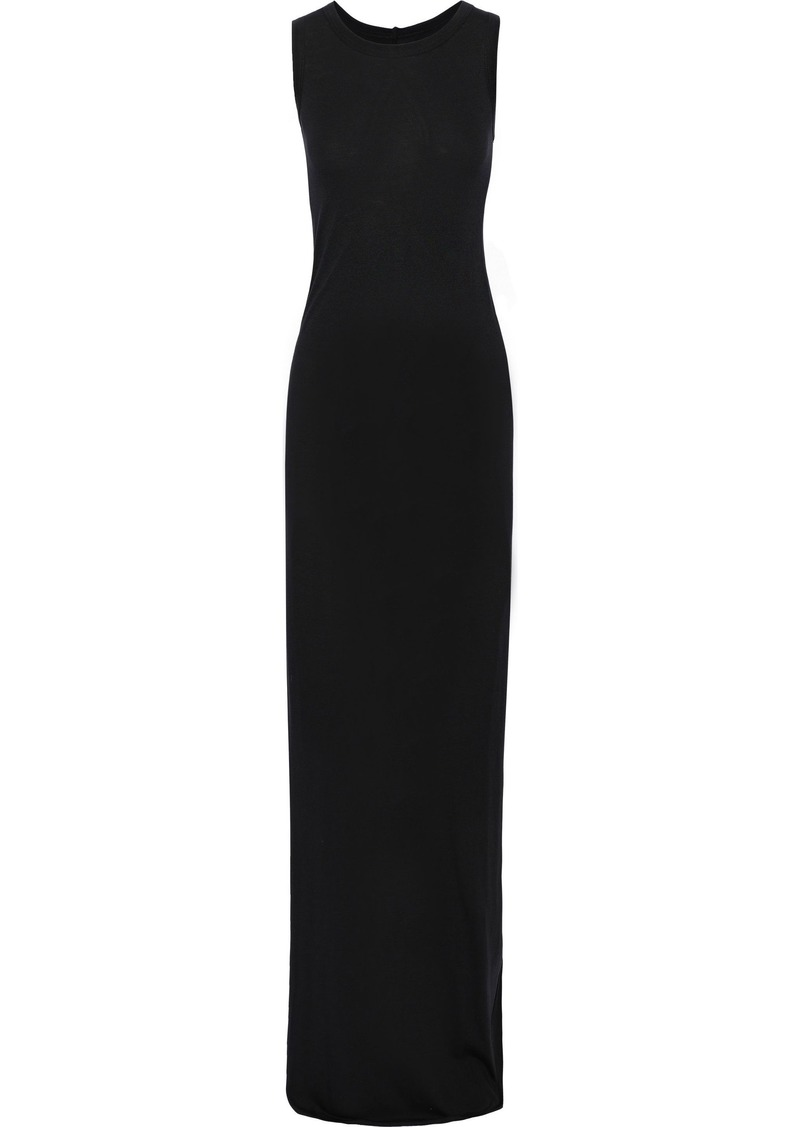 Rick Owens Lilies Woman Cotton-blend Jersey Maxi Dress Black