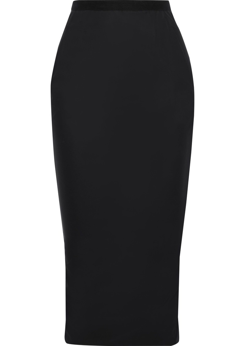 Rick Owens Lilies Woman Felt-trimmed Shell Midi Skirt Black