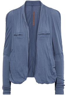 Rick Owens Lilies Woman Gathered Jersey Jacket Slate Blue