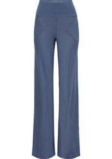 Rick Owens Lilies Woman Jersey Wide-leg Pants Slate Blue
